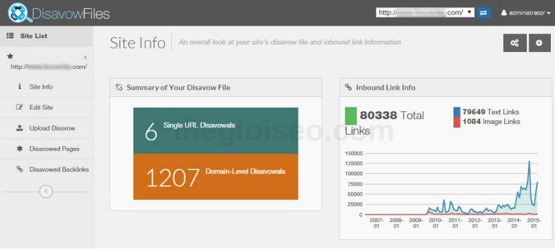 DisavowFiles - công cụ chối bỏ liên kết tuyệt vời