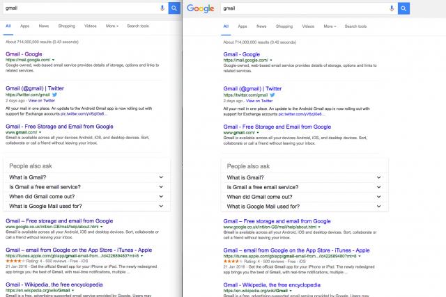 Google dang thu nghiem link mau xanh nhe hơn tren ket qua tim kiem