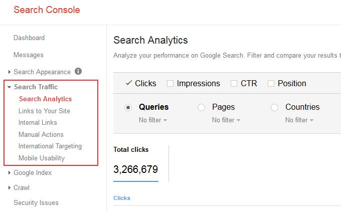 Huong dan su dung bao cao Search Analytics trong Google Search Console