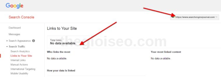Phuc hoi du lieu lien ket den trang web cua ban trong Google Search Console