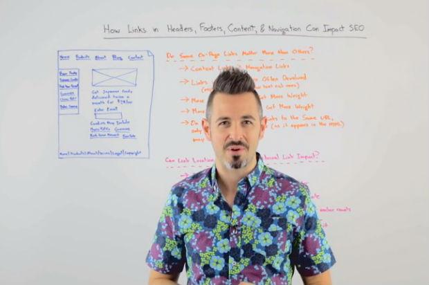 Các link trong Header, Footer, Content và Navigation có thể tác động đến SEO ra sao?