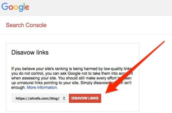 Hướng dẫn đầy đủ về công cụ Google Disavow Links
