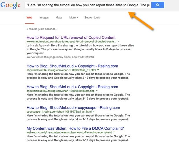 Su dung DMCA de loai bo noi dung sao chep tu Google Search 3