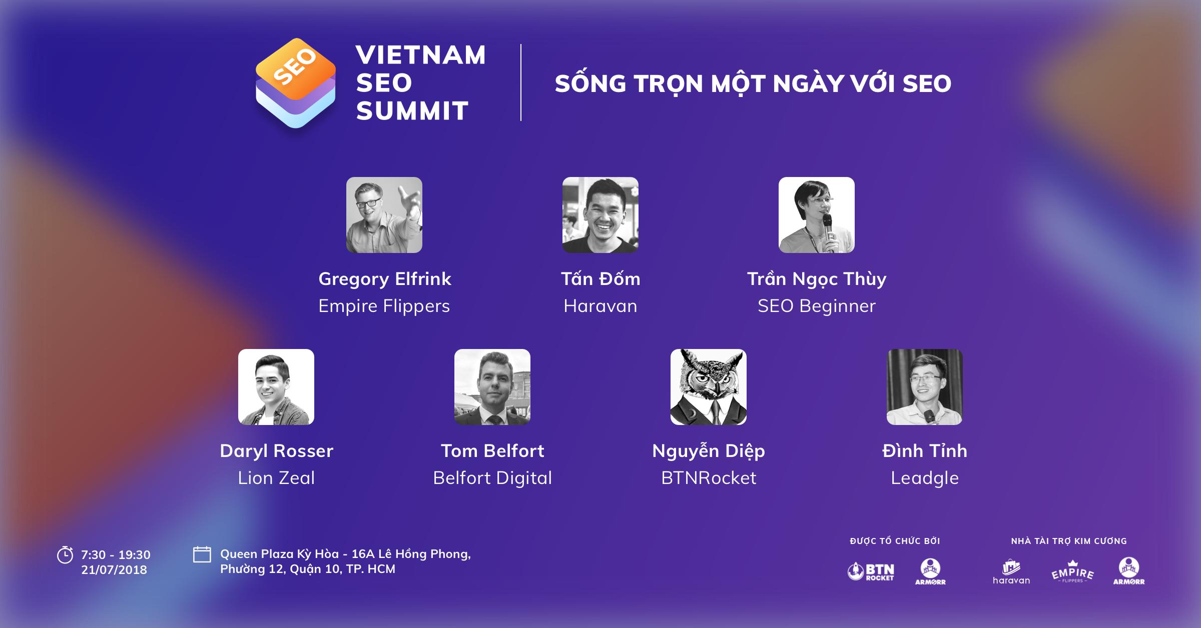 Vietnam SEO Summit - Khai Phá Sức Mạnh SEO Trong Digital